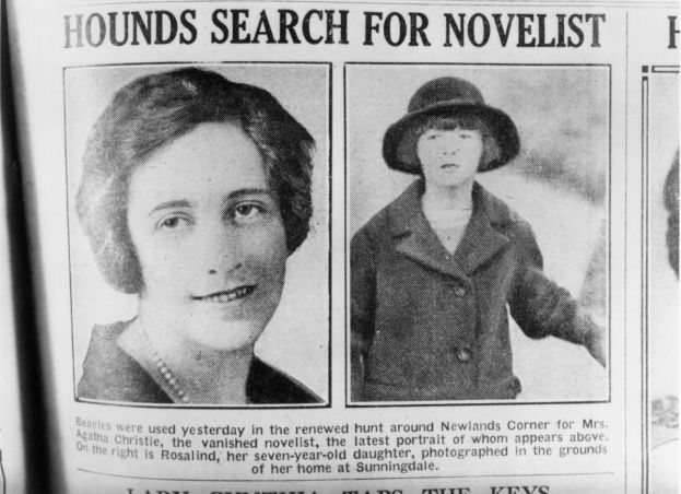 Agatha Christie'yi bulabilmek için Sherlock Holmes'un yaratıcısı iş başında.