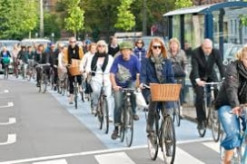 Kopenhag'da trafikteki bisiklet sayısı, motorlu araç sayısını geçti!