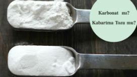Kabartma tozu ile karbonat arasında ne fark vardır?