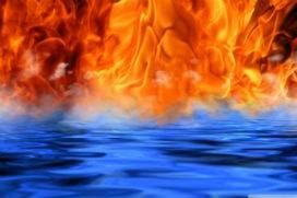 İki yanıcı gazdan (Hidrojen ve Oksijen) oluşmuş olmasına rağmen su neden yanmaz?